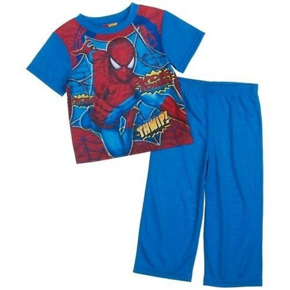 Spiderman The Amazing Cozy Flannel Pajama Set~ Boys SZ 4